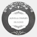 Chalkboard Typography Weddings Sticker