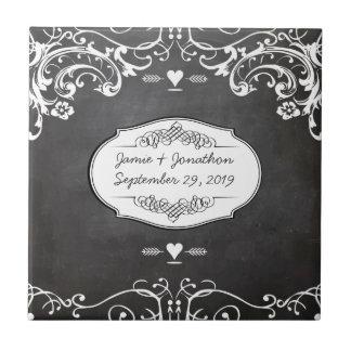 Chalkboard Typography Weddings Tiles