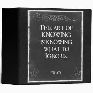 Chalkboard Typography with an Inspirational Quote Binder