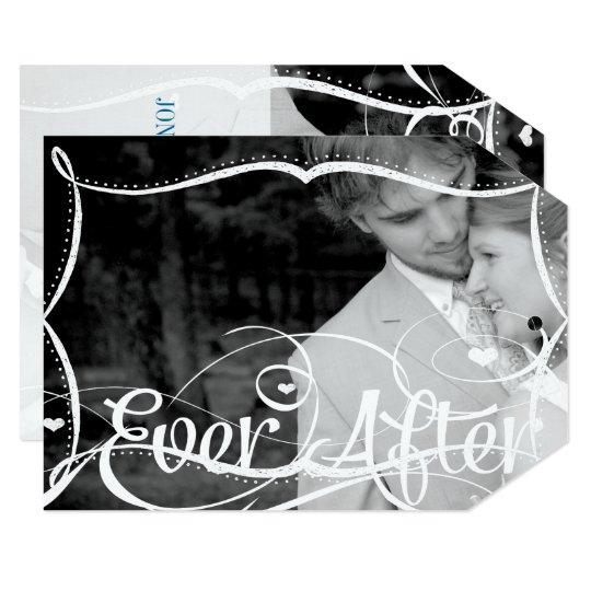 Chalkboard Typography Your Photo Wedding Invite