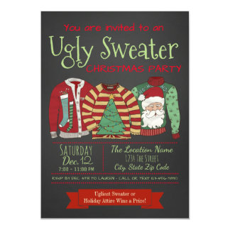 Ugly Christmas Sweater Party Invitations | Zazzle