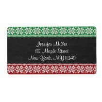 Chalkboard Ugly Sweater Holiday Address Label