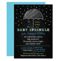 Chalkboard Umbrella Baby Sprinkle Invitations
