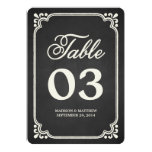 Chalkboard Union   Table Numbers 5x7 Paper Invitation Card