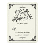 Chalkboard Union | Wedding Response Card Custom Announcements