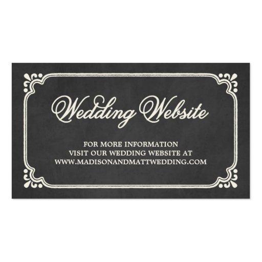 Chalkboard Union | Wedding Website Card Business Card Templates