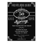 Chalkboard Vintage 50th Anniversary Party Invite
