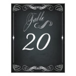 Chalkboard Vintage Bold Typography Table Card