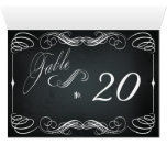 Chalkboard Vintage Bold Typography Table Card 2