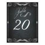 Chalkboard Vintage Bold Typography Table Card Custom Invite