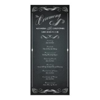 Chalkboard Vintage Bold Typography Wedding Program