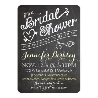 Chalkboard Vintage Bridal Shower Invitation