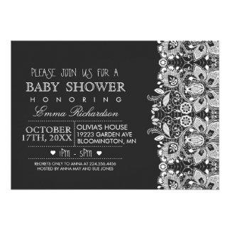 Chalkboard & Vintage Lace Baby Shower invitation