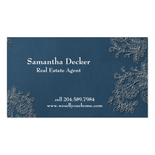Chalkboard & Vintage Lace | Customizable Double-Sided Standard Business Cards (Pack Of 100)