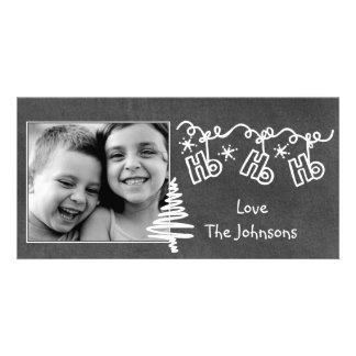 Chalkboard Wallies Christmas photo card
