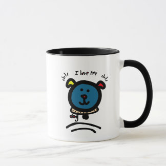chalkboard wallies i love my dog mug