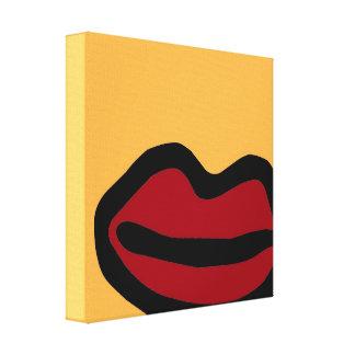 chalkboard wallies lips pop art canvas print