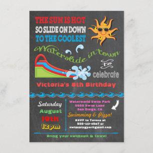 water slide invitations zazzle