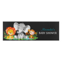 Chalkboard Watercolor Jungle Animals Baby Shower Poster
