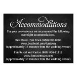 Chalkboard Wedding Accommodation - Reception Cards Business Cards
