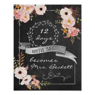 Chalkboard Wedding Bridal Shower Sign