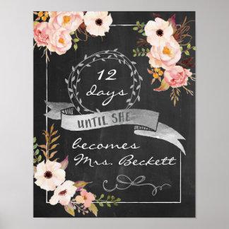 Chalkboard Wedding Bridal Shower Sign Poster