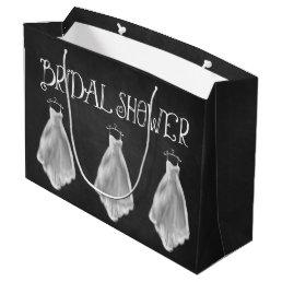 Chalkboard Wedding Dress Bridal Shower Gift Bag