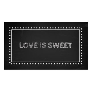 Chalkboard Wedding Favor Recipe Tags Double-Sided Standard Business Cards (Pack Of 100)