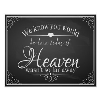 Chalkboard Wedding for someone in heaven print