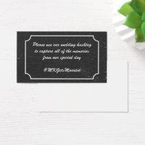 Chalkboard Wedding Hashtag Reminders