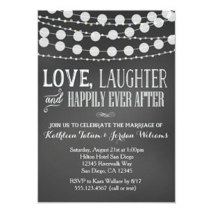 Chalkboard Wedding Invitations Zazzle