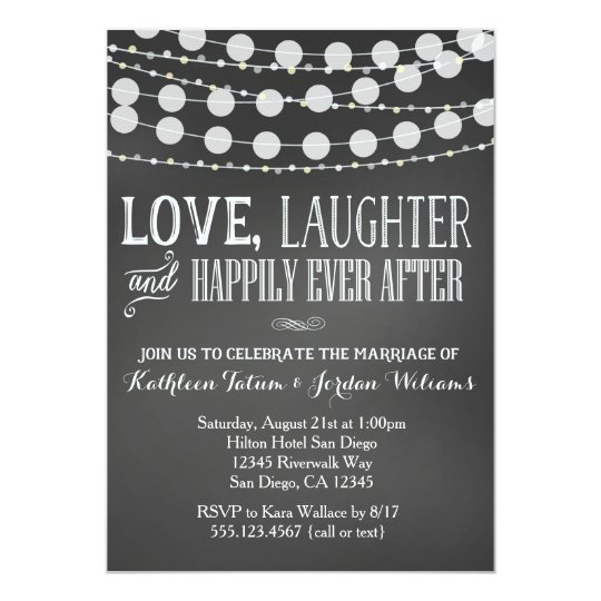 chalkboard wedding invitation zazzle