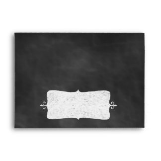 Chalkboard Wedding Invitation Envelope.
