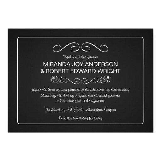 Chalkboard Wedding Invitations Plain and Simple