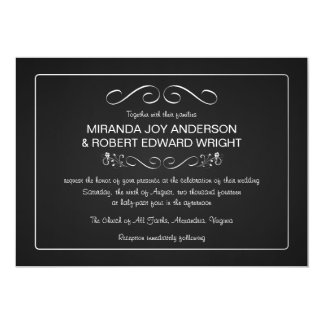 Lovely Chalkboard Wedding Invitations Plain And Simple