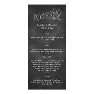 Chalkboard Wedding Menu 2 Rack Card