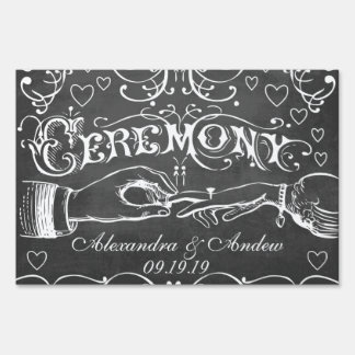 Chalkboard Wedding Personalized Lawn Sign