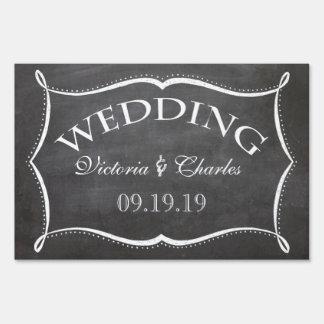 Chalkboard Wedding Personalized Lawn Sign