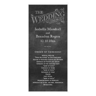 Chalkboard Wedding Program Rack Card Template
