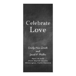 Chalkboard Wedding Programs
