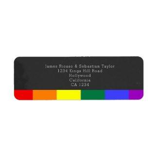 Chalkboard wedding Rainbow Pride Label