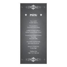 Chalkboard Wedding Reception Menu Card