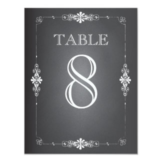 Chalkboard Wedding Reception Table Number Card