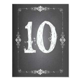 "Chalkboard Wedding Reception Table Number Card 4.25"" X 5.5"" Invitation Card"