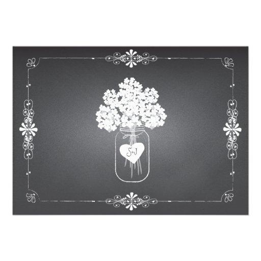 Chalkboard Wedding Rehearsal & Dinner Mason Jar Cards (back side)