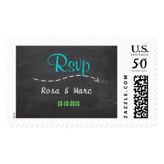 Chalkboard Wedding RSVP Postage Stamps