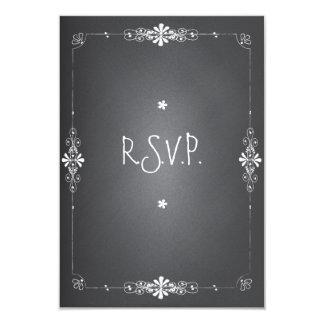 "Chalkboard Wedding RSVP Response Card 3.5"" X 5"" Invitation Card"