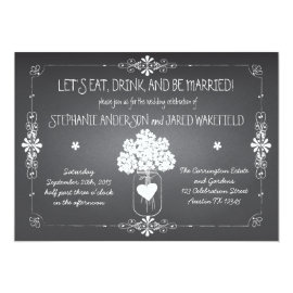Chalkboard Wedding Rustic Mason Jar Invitation 5