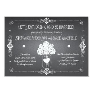 Chalkboard Wedding Rustic Mason Jar Invitation