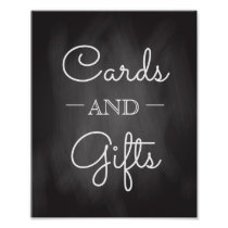Chalkboard Wedding Sign | Cards and Gifts